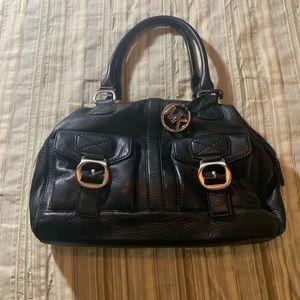 Micheal Kors Black Leather Satchel
